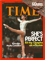 Time cover, Nadia Comaneci, August 2, 1976. Photo by John G. Zimmerman.