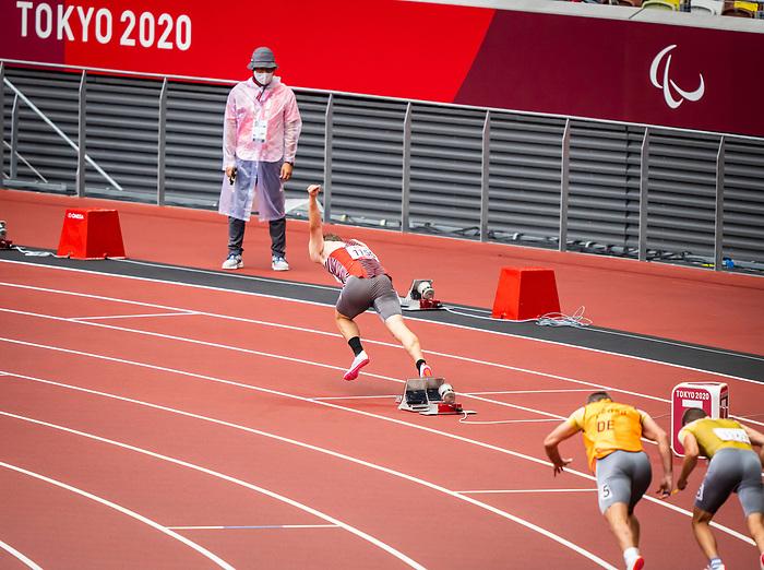 Austin Ingram, Tokyo 2020  -  <br /> Para Athletics // Para-athlétisme.<br /> Canada competes in the 4x100m universal relay heats // Le Canada participe aux séries éliminatoires du relais universel 4x100m. 03/09/2021.