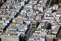 aerial photograph of Chinatown, the entrance to the Broadway Tunnel and Russian Hill, San Francisco, California