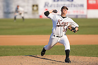 Starting pitcher Jake Renshaw (35) of the Frederick Keys in action at Harry Grove Stadium in Frederick, MD, Monday July 14, 2008. (Photo by Brian Westerholt / Four Seam Images)