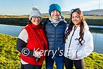 Clodagh, Padraig and Marie Harrington enjoying a stroll in Blennerville on Saturday.