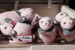 Souvenirs of new giant panda cub Xiang Xiang on sale at Tokyo's Ueno Zoo on December 19, 2017, Tokyo, Japan. The new female panda cub Xiang Xiang, born June 12, 2017, is being shown to the public for the first time. More than one thousand visitors are expected to come to see the panda on the day of her public debut. (Photo by Rodrigo Reyes Marin/AFLO)