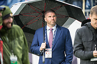 FOXBOROUGH, MA - OCTOBER 27: Director, Corporate Partnerships at Kraft Sports Christopher Starck during a game between Cleveland Browns and New Enlgand Patriots at Gillettes on October 27, 2019 in Foxborough, Massachusetts.
