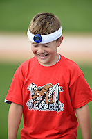 Batavia Muckdogs on field promotion, the bobble head, during the second game of a doubleheader against the Connecticut Tigers on July 20, 2014 at Dwyer Stadium in Batavia, New York.  Connecticut defeated Batavia 2-0.  (Mike Janes/Four Seam Images)