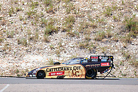 Jul 21, 2019; Morrison, CO, USA; NHRA funny car driver Jim Campbell during the Mile High Nationals at Bandimere Speedway. Mandatory Credit: Mark J. Rebilas-USA TODAY Sports