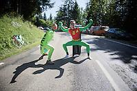 superheroes to empower superstar riders<br /> <br /> 2014 Tour de France<br /> stage 13: Saint-Etiènne - Chamrousse (197km)