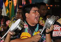 SAO PAULO, SP, 09 DE DEZEMBRO DE 2011, Integrante da bateria da VAI VAI, no LANÇAMENTO DO CD DA LIGA DAS ESCOLAS DE SAMBA 2012 na quadra da Escola de Samba Rosas de Ouro, zona norte de SP.  (FOTO: MILENE CARDOSO / NEWS FREE)