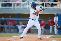 Raphael Ramirez (21) of the Kingsport Mets at bat against the Elizabethton Twins at Hunter Wright Stadium on July 9, 2015 in Kingsport, Tennessee.  The Twins defeated the Mets 9-7 in 11 innings. (Brian Westerholt/Four Seam Images)