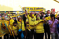 29th April 2021; Ceramica Stadium, Villareal, Spain; EUropa League semi-final football, Villareal CF versus Arsenal;  Villarreal supporters support their club from outside the stadium during the UEFA Europa League match