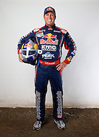 Mar. 21, 2014; Chandler, AZ, USA; LOORRS pro 4 driver Ricky Johnson poses for a portrait prior to round one at Wild Horse Motorsports Park. Mandatory Credit: Mark J. Rebilas-USA TODAY Sports