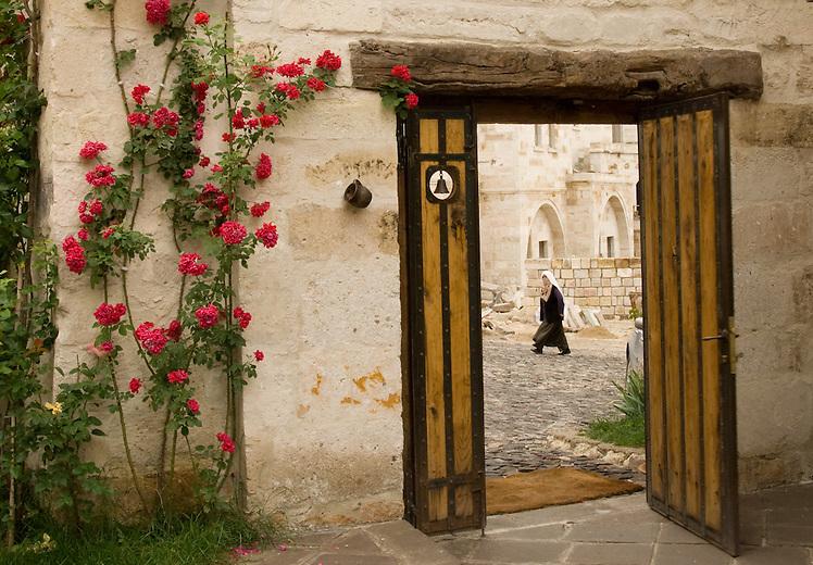 Entrance to the Anatolian Houses, in Göreme, Turkey.