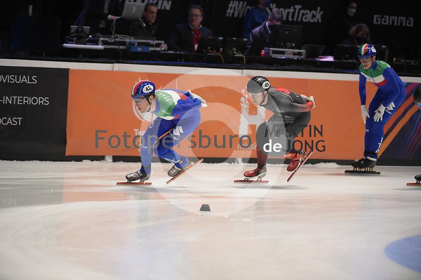 SPEEDSKATING: DORDRECHT: 06-03-2021, ISU World Short Track Speedskating Championships, SF 5000m Relay, (ITA), (CAN), ©photo Martin de Jong