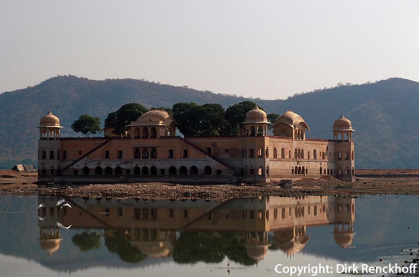 Indien, Rajasthan, bei Jaipur, Jal Mahal (Wasserpalast)