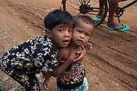 Children at Phnom Ek Monastery and Khmer temple located in the rural parts of Battambang, Cambodia