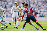 Marco Asensio of Real Madrid (L) fights for the ball with Antonio García Aranda, Tono, of Levante UD (R)  during the La Liga match between Real Madrid and Levante UD at the Estadio Santiago Bernabeu on 09 September 2017 in Madrid, Spain. Photo by Diego Gonzalez / Power Sport Images