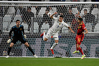Heel strike of Benjamin Pavard of France during the Uefa Nations League semi-final football match between Belgium and France at Juventus stadium in Torino (Italy), October 7th, 2021. Photo Andrea Staccioli / Insidefoto