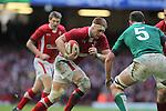 Wales lock Andrew Coombs takes on Donnacha Ryan..RBS 6 Nations.Wales v Ireland.Millennium Stadium.02.02.13.©Steve Pope-SPORTINGWALES