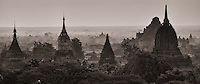 The ancient city of Bagan in monochrome