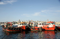 Fishing boats on the Golden Horn, Istanbul, Turkey