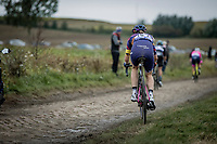 Tiffany Cromwell (AUS/Canyon Sram Racing) riding off road<br /> <br /> Inaugral Paris-Roubaix Femmes 2021 (1.WWT)<br /> One day race from Denain to Roubaix (FRA) (116.4km)<br /> <br /> ©kramon