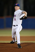 March 9, 2010:  Pitcher Hudson Randall (11) of the Florida Gators during a game at McKethan Stadium in Gainesville, FL.  Photo By Mike Janes/Four Seam Images