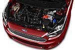 Car Stock 2017 Ford KA+ Ultimate 5 Door Hatchback Engine  high angle detail view
