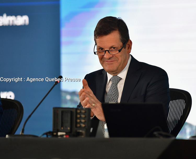 Assemblee Annnuelle de Bombardier<br /> , le 1er mai 2019, en presence de Laurent Beaudoin et Alain Bellemare<br /> <br /> PHOTO : Agence Quebec Presse