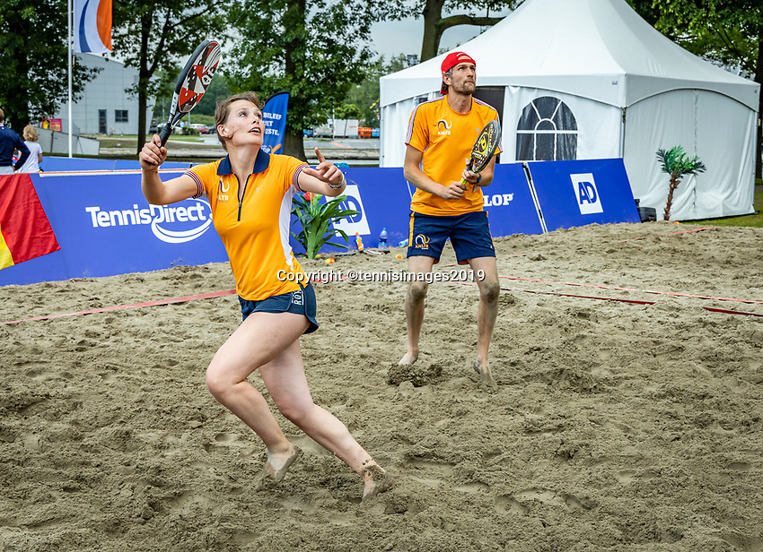 Rosmalen, Netherlands, 15 June, 2019, Tennis, Libema Open, Beachtennis<br /> Photo: Henk Koster/tennisimages.com