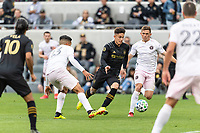 LOS ANGELES, CA - MARCH 01: Brian Rodriguez #17 of LAFC drives with the ball in a match against Inter Miami CF during a game between Inter Miami CF and Los Angeles FC at Banc of California Stadium on March 01, 2020 in Los Angeles, California.