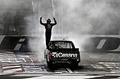 #51: Kyle Busch, Kyle Busch Motorsports, Toyota Tundra Cessna , celebrates after winning