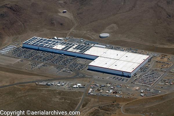 aerial photograph of Tesla Gigafactory in Storey County, east of Reno,  Nevada