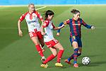 Liga IBERDROLA 2020-2021. Jornada: 10<br /> FC Barcelona vs Santa Teresa: 9-0.<br /> Sini Laaksonen, Lidia Sanchez & Vicky Losada.