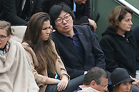 Jean-Vincent Place watching tennis during Roland Garros tennis open 2016 on may 29 2016.