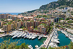 Fuerstentum Monaco, an der Côte d'Azur: Port de Fontvieille | Principality of Monaco, on the French Riviera (Côte d'Azur): Port de Fontvieille