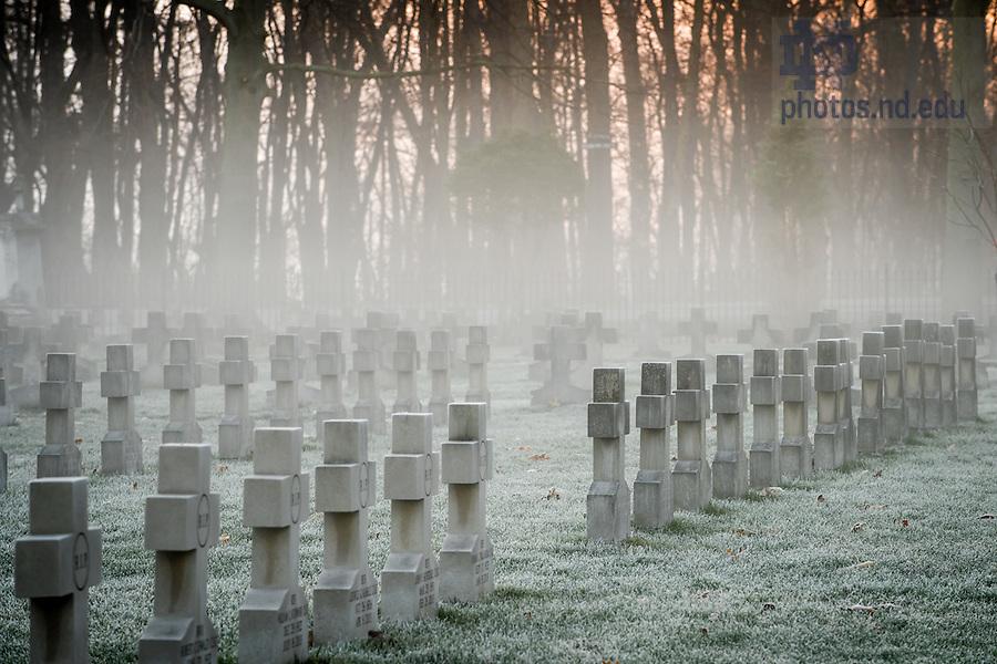 Mar. 29, 2016; Congregation of Holy Cross cemetery. (Photo by Matt Cashore/University of Notre Dame)