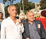 MARCO FUMAGALLI E FRANCO GIORDANO<br /> MANIFESTAZIONE PER LA LIBERTA' DI STAMPA PROMOSSA DAL FNSI<br /> PIAZZA DEL POPOLO ROMA 2009