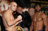 Montreal (QC) CANADA- Dec 10 2009- Official Weighting before Dec 11 Fight  Adrian Diaconu (L),Jean Pascal (R)