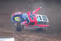 Dec. 11, 2011; Chandler, AZ, USA;  LOORRS pro 2 driver Rodrigo Ampudia crashes during the Lucas Oil Challenge Cup at Firebird International Raceway. Mandatory Credit: Mark J. Rebilas-