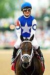 LOUISVILLE, KY - MAY 07: Tepin #1, ridden by Julien Leparoux, wins the Churchill Distaff Turf Mile on May 7, 2016 in Louisville, Kentucky. (Photo by Scott Serio/Eclipse Sportswire/Getty Images)