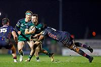 13th March 2021; Galway Sportsgrounds, Galway, Connacht, Ireland; Guinness Pro 14 Rugby, Connacht versus Edinburgh; Sean O'Brien (Connacht) holds off a challenge from Viliame Mata (Edinburgh)