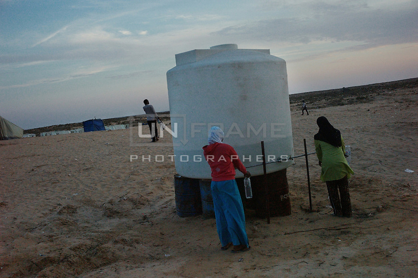 Fetching water from the water tank