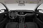 Stock photo of straight dashboard view of 2020 KIA Niro More 5 Door Hatchback Dashboard