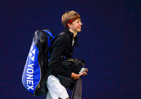 Hilversum, Netherlands, December 3, 2017, Winter Youth Circuit Masters, 12,14,and 16 years, Liam Liles (NED)<br /> Photo: Tennisimages/Henk Koster
