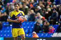 Saturday 25 January 2014<br /> Pictured: Neil Taylor of Swansea<br /> Re: Birmingham City v Swansea City FA Cup fourth round match at St. Andrew's Birimingham