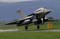 A French Rafale fighter jet takes off. Nato Tiger Meet is an annual gathering of squadrons using the tiger as their mascot. While originally mostly a social event it is now a full military exercise. Tiger Meet 2012 was held at the Norwegian air base Ørlandet.