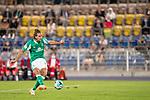 12.09.2020, Ernst-Abbe-Sportfeld, Jena, GER, DFB-Pokal, 1. Runde, FC Carl Zeiss Jena vs SV Werder Bremen<br /> <br /> <br /> Niclas Füllkrug / Fuellkrug (Werder Bremen #11) Einzelaktion, Ganzkörper / Ganzkoerper  Querformat torschuss<br /> <br />  <br /> <br /> <br /> Foto © nordphoto / Kokenge