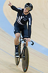 Ethan Mitchell of the team of New Zealand celebrates after the Men's Team Sprint Finals match as part of the 2017 UCI Track Cycling World Championships on 12 April 2017, in Hong Kong Velodrome, Hong Kong, China. Photo by Chris Wong / Power Sport Images