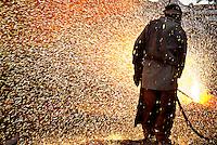 Produção de aço na acearia da Sinobras.<br /> Marabá, Pará, Brasil.<br /> Foto Paulo Santos