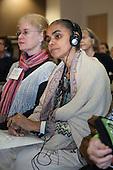 Washington DC, USA. Chico Vive conference, 4th April 2014. Keynote speaker Brazilian Senator Marina Silva, ex-Environment Minister.