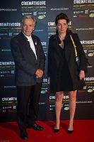 COSTA GAVRAS ET SIDONIE DUMAS - Vernissage de l' exposition Goscinny - La Cinematheque francaise 02 octobre 2017 - Paris - France